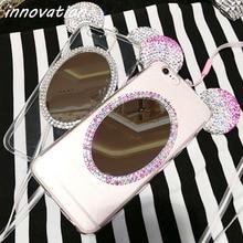 Coque For Samsung Galaxy A3 2016 A5 A7 Huawei P8 Lite P9 Case Luxury 3D Crystal Mirror Glitter Rhinestone TPU Phone Cases Fundas