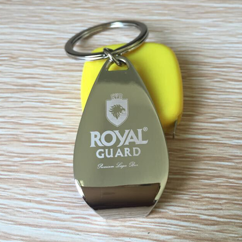 Customized Logo Metal Bottle Opener Keychain Personalized Key Ring Promotional Gifts 100pcs Free Engraving