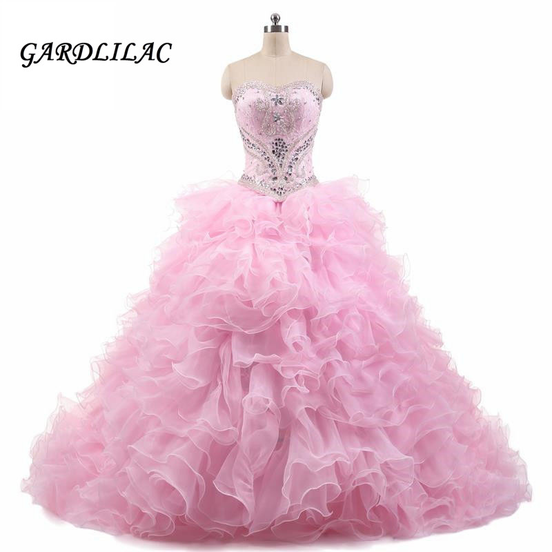 92155fddaf3b Gorgeous 100% Real Lace Appliques Ball Gown Bröllopsklänningar 2017 ...