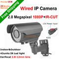 1920*1080 P Full HD Câmera IP Varifocal 2.8-12mm Foco Zoom de Segurança câmera 2.0MP Onvif P2P vista Remoto ir night vision CCTV Cam