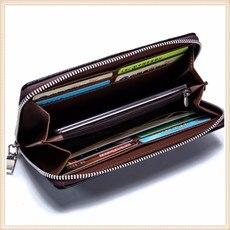 Brown mala origine ceinture en cuir carte de crédit portefeuille rfid protéger 552 5