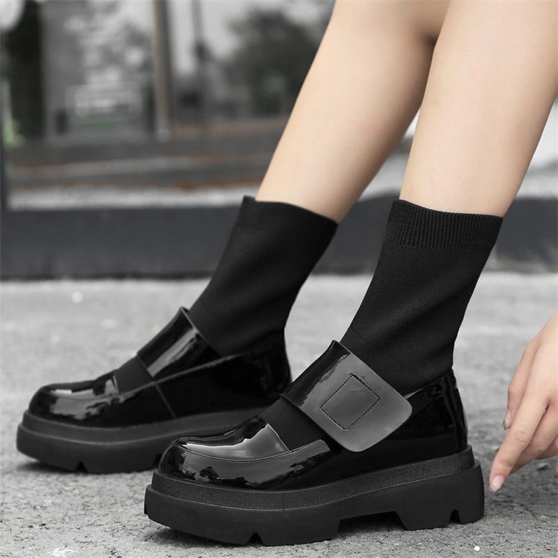 FEDONAS/Новинка; женские ботинки до середины икры; сезон осень зима; Теплая обувь на высоком каблуке; женская повседневная обувь из натуральной ... - 5