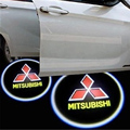 For Mitsubishi Asx Lancer 9 10 Outlander Pajero Carisma Colt Galant l200 Eclipse Montero Car Door Welcome Light Logo Projector