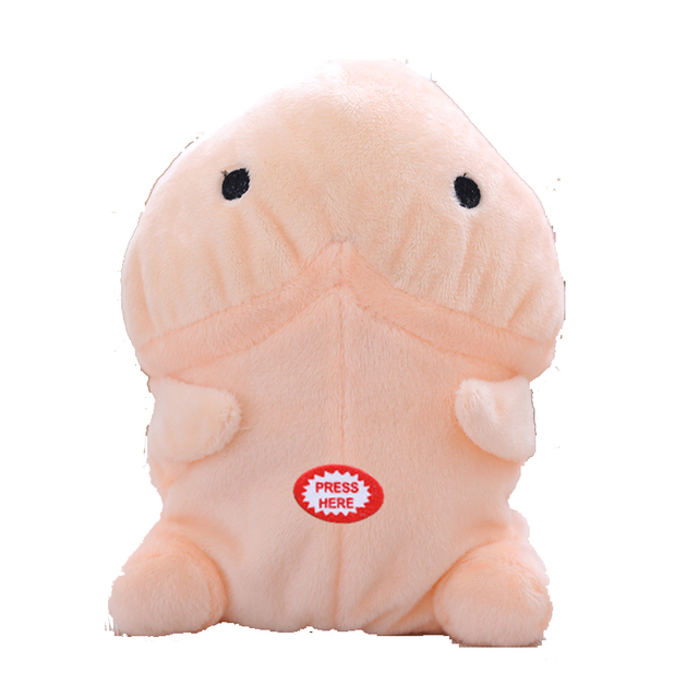 1pcs 20cm New Valentineu0027s Day Creative Tricks Evil Electric Little Penis  Cute Fun Plush Toys Creative