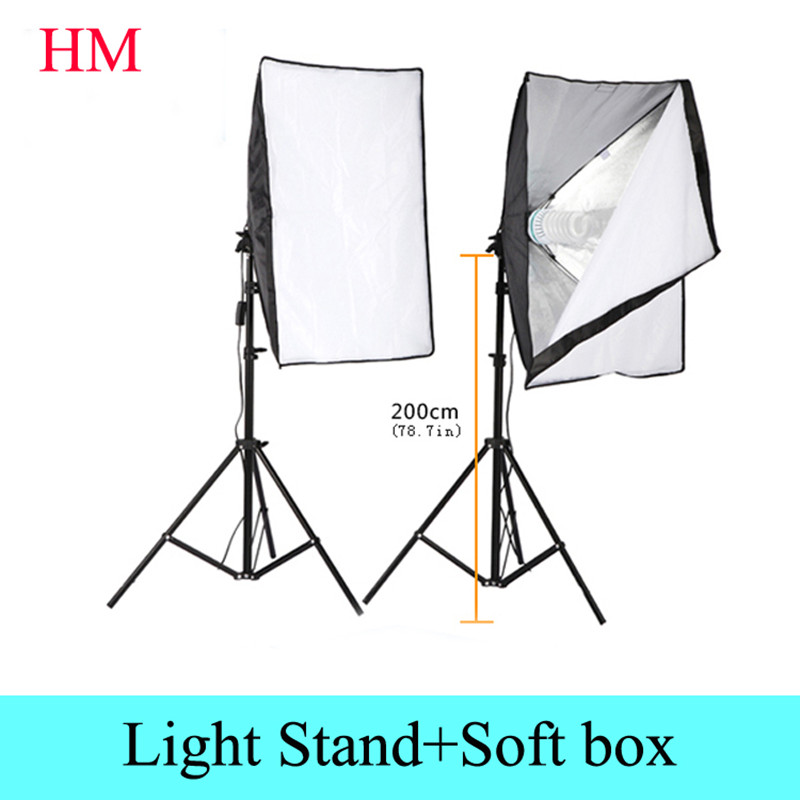 Photography Rectangle Continuous SoftBox Lighting Kit 2pcs 50x70cm Softbox +2pcs Light Holder Stand Photo Studio Equipment Set чехлы для телефонов skinbox силиконовая накладка apple iphone 6 6s