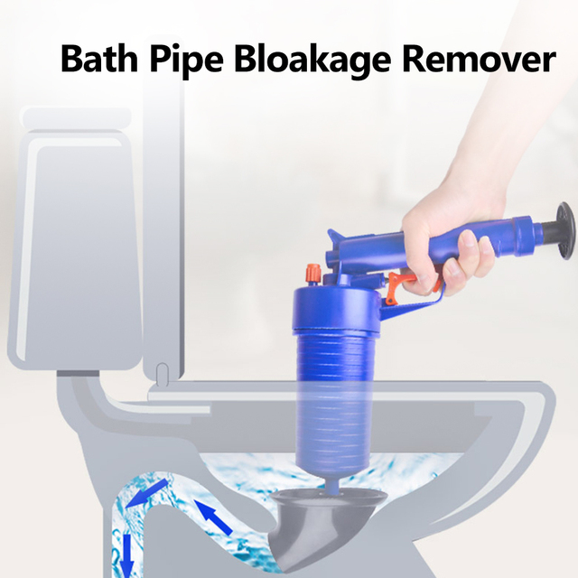 Houkiper Rumah Tekanan Tinggi Udara Drain Blaster Pompa Plunger Wastafel Pipa Menyumbat Remover Toilet R Mandi