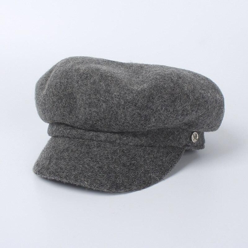 2018 moda Octagon gorros de lana mujer sombrero gorra de invierno mujeres  Newsboy sombreros para las mujeres tapa octogonal tapa vendedor de  periódicos en ... 887a8f7150e