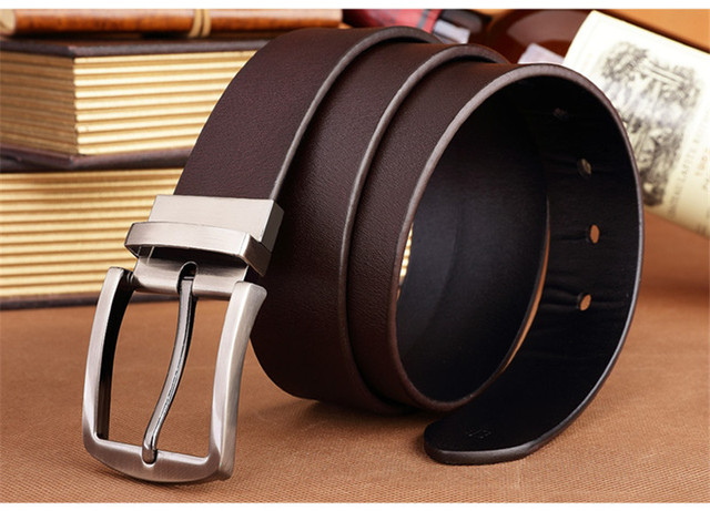 Belt 2017 new arrival mens pin buckle brand new fashion leather belts for business men high quality luxury for man freeshipping