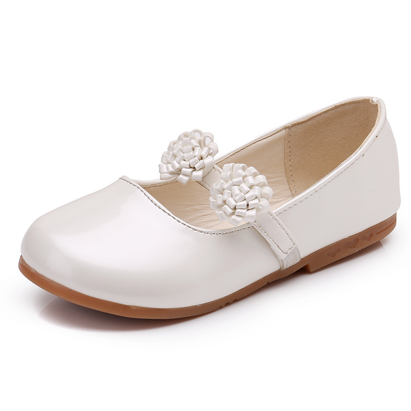 Spring/Autumn Girls Shoes For Children Leather Shoes Kids Baby Fashion Princess Shoes With Handmade Flowers Party Shoe