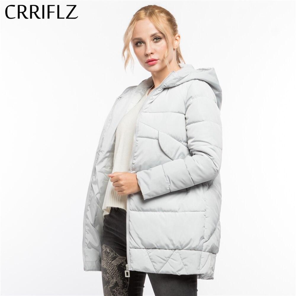 CRRIFLZ Winter Clearance Fashionable Thick Warm Winter Jacket Women Hooded Coat   Parkas   Female Outerwear