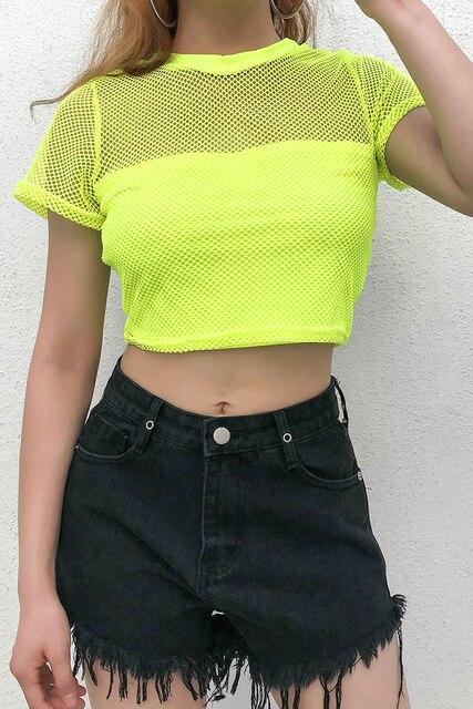 TShirt Clubwear Mesh...