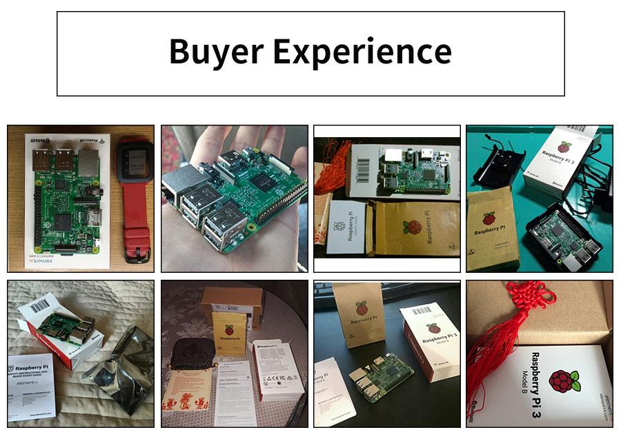 Original Raspberry Pi 3 Model B Quad Core 1.2GHz 64 bit CPU wifi & bluetooth