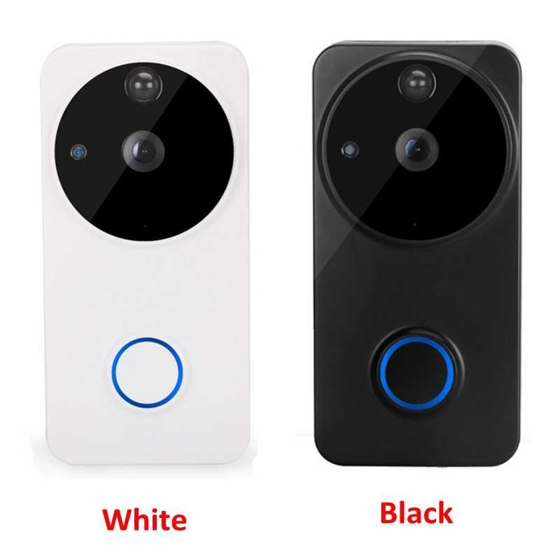 الذكية اللاسلكية WiFi الأمن جرس الباب البصرية تسجيل استهلاك عن المنزل مراقبة للرؤية الليلية فيديو هاتف إنتركم للباب