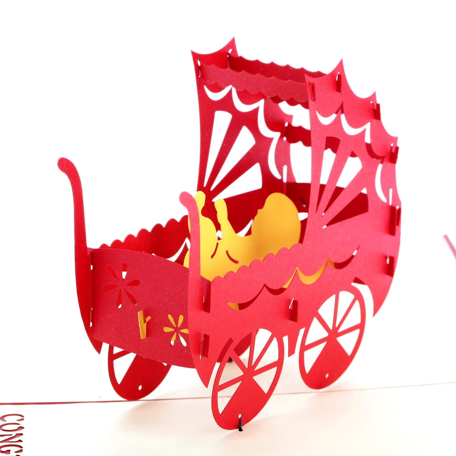 Online Shop 3D Pop Up Grußkarte Baby Dusche Wagen Gratulation Geburtstag  Weihnachten Papier Postkarte Mit Envelop Valentinstag Geschenke| Aliexpress  Mobil