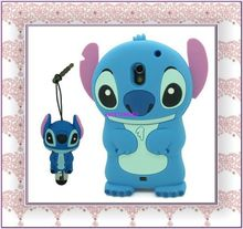 1*3D Cartoon Stitch & Lilo Silicone Case Cover for Samsung Galaxy Nexus i9250 i515+3D touch pen free shipping