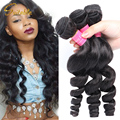 Ms lula Hair 10A Brazilian Virgin Hair Loose Wave 3/4 pcs Brazillian Loose Curl Extension Human Virgin 100g Bundles stema hair