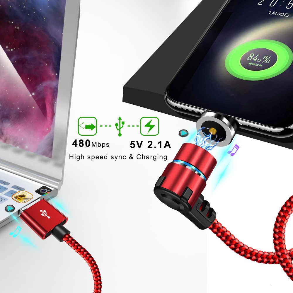 OLAF Magnetica 90 Gradi mi cro usb TIPO Di cavo C PER il Iphone 7 8 più Di x XS MAX Per Xiao mi rosso Mi nota 7 mi 8 per samsung S8 S9 Più