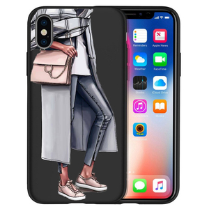Image 4 - Fashion High heels Girl Flower Luxury Phone Case For Cover iphone X XS Max XR 6 7 8 Plus 5S SE Soft Case Cover Etui