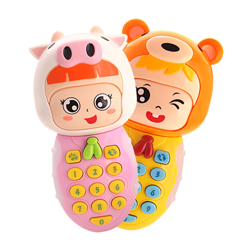 Infant Baby Toy Baby Toy Phone Cute Kids Mobile Phone Express Facial emotion Fun Music Sound light Cellphone Educational Toy