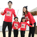 Creative Family fitted Autumn Cotton Long sleeve Sweatshirt Boy Girl Plus Thick Velvet T-shirts Couples clothing