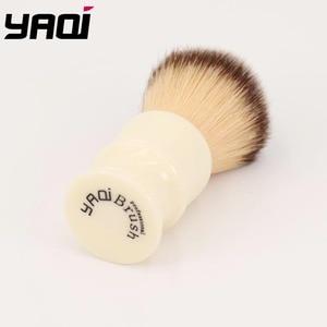 Image 2 - Yaqi 22 MILLIMETRI Capelli Sintetici Manico In Resina Bianco Latteo Pennelli Da Barba degli uomini