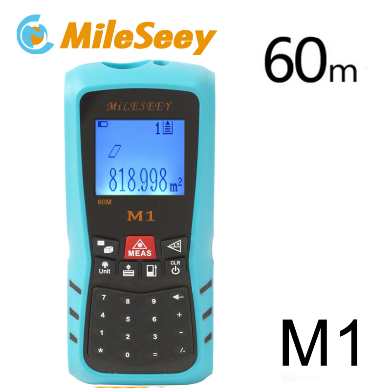 Mileseey 40M 60M M1 Blue Laser Rangefinder Digital Laser Distance Meter with Rechargeable Battery цены