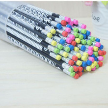 72 adet ahşap müzik piyano kalem sevimli çocuklar silgili kurşun kalemler okul ofis yazma 2B kalem grafit çocuklar ödülleri yenilik öğeleri