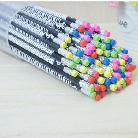 72 sztuk drewniane pianino ołówek śliczne dzieci ołówki z gumką szkolne biuro pisanie 2B ołówek grafitowe nagrody dla dzieci nowość przedmioty