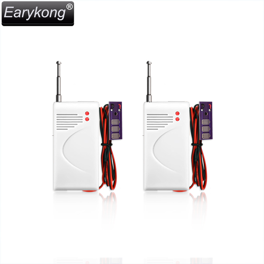 2017 New Wireless Water Leak Sensor Intrusion, 2 pieces, Work With Earykong  GSM Home Security Voice Burglar Smart Alarm fuers 433mhz wireless water intrusion detector water leak sensor work with gsm pstn sms home security water leak detector