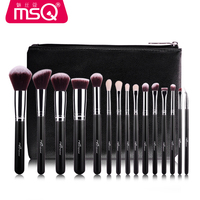 MSQ Professional 15 Pcs Makeup Brushes Set For Women Fashion Soft Face Lip Eyebrow Shadow Make