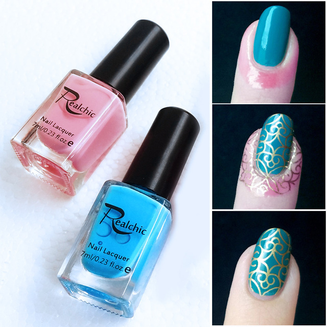 REALCHIC Blue & Pink Liquid Tape Nail Art Base Coat Easy Clean Care ...