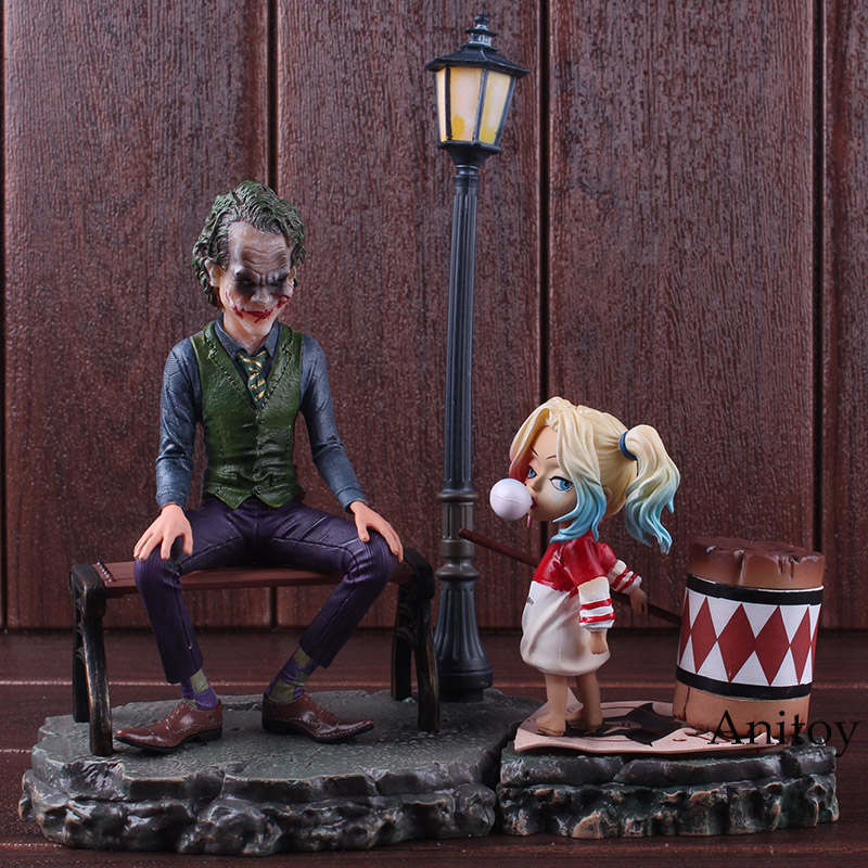 все цены на DC Comics Suicide Squad Figure Harley Quinn & Joker Harley Quinn and Joker Action Figure PVC Collectible Model Toy Set