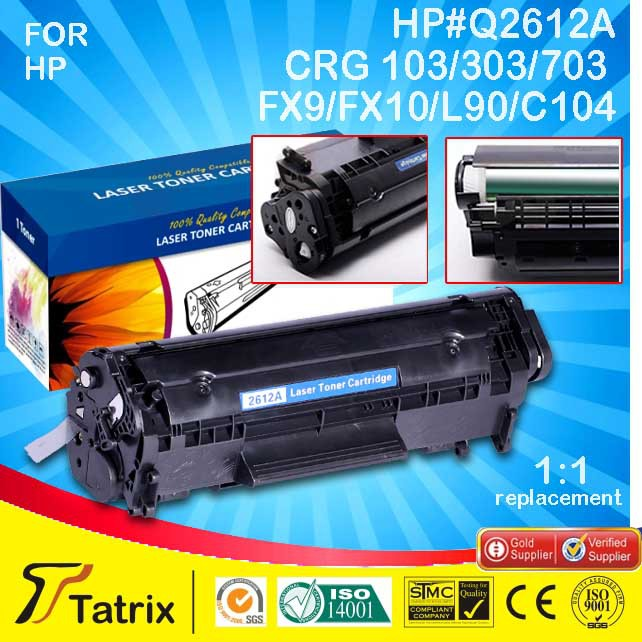 Q2612A 12a 2612A 2612 12 toner cartridge For HP LaserJet 1010 1012 1015 1018 1020 1022 3010 3015 3020 3030 3050 3052