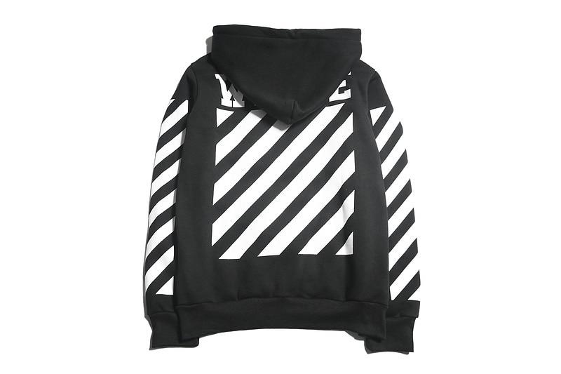 9e088e506263 Hip hop street hoodie OFF WHITE C O VIRGIL ABLOH hooded religion Pyrex  vision stripe print men sweatshirt-in Hoodies   Sweatshirts from Men s  Clothing on ...