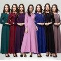Новый Мусульманин абая платье для Дамы моды пакистанских стиль исламская одежда длинный рукав длинный макси платье дубай WL2438