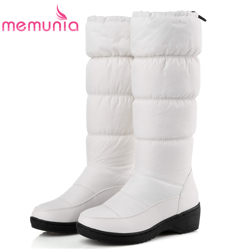 2017 new fashion warm snow boots round toe platform knee high winter boots fashion shoes woman size 35-44 ...