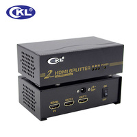 CKL HD 92 1x2 2 Port HDMI Splitter Support 1.4V 3D 1080P for PC Monitor