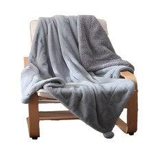 Couverture de canapé en fausse fourrure de lapin, plaid moelleux, chaud, épais, en vison, tricoté, pour voyage, avion, pour adultes