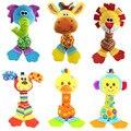 Chocalhos crianças toys das ciranças bebê toys stuffed animal plush toys bebê mordedor pendurado carrinhos de som bb mão bar toys presente