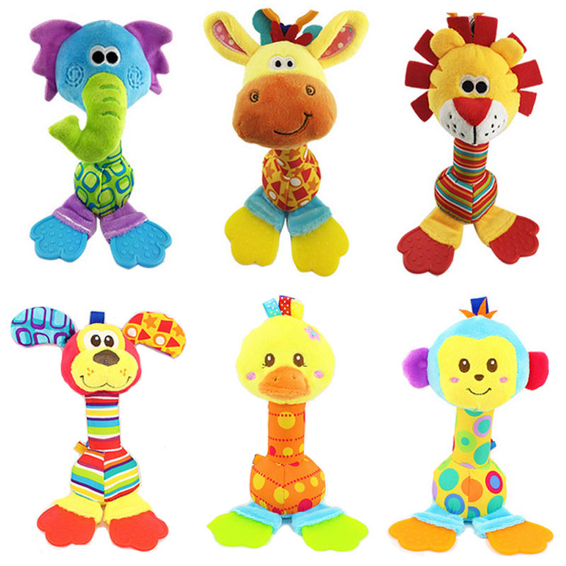 Plush Baby Toys : Rattles kids toys chidren s baby stuffed animal plush