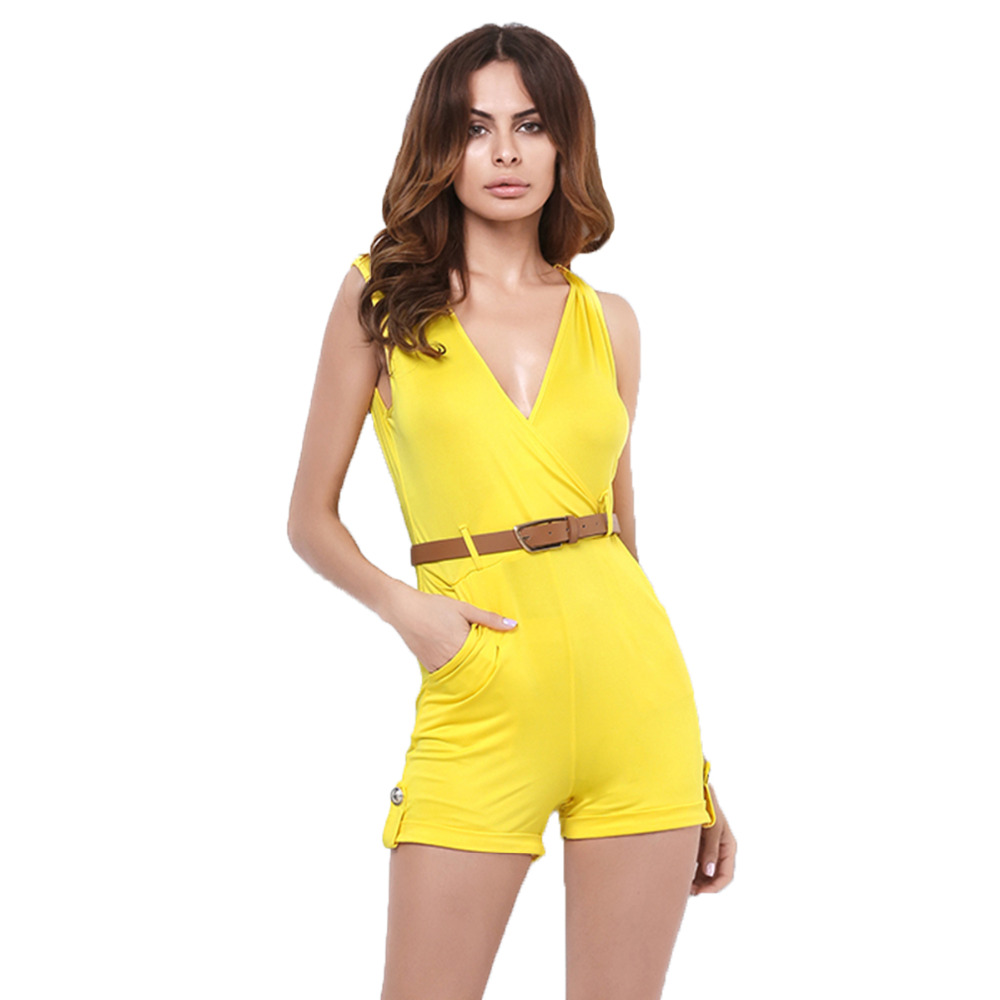 Fashion Playsuit Brand Cheap Clothes China Short Pant Overall Set Summer Jumpsuit Female Casual Night Club Party Women Rompers