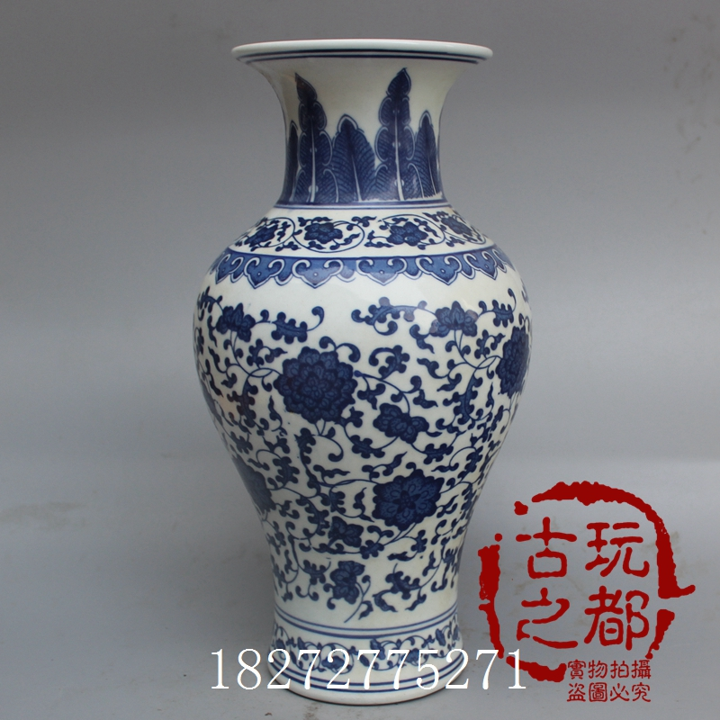 Antique Porcelain Ming And Qing Porcelain Blue And White Porcelain Jingdezhen Porcelain Vases