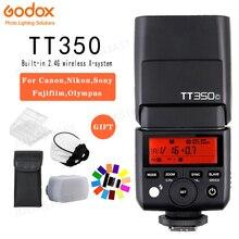 Godox TT350C TT350S TT350N TT350O TT350F TT350P Mini แบบพกพาแฟลช TTL HSS Speedlite สำหรับ Sony Nikon Canon Olympus Fuji Pentax