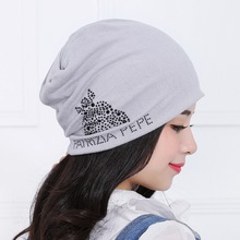 Девушки женщин мода hat cap высокого качества jet горный хрусталь звериного стиля хлопка зимние шапки спорта на открытом воздухе случайные женщина шапочки gorro