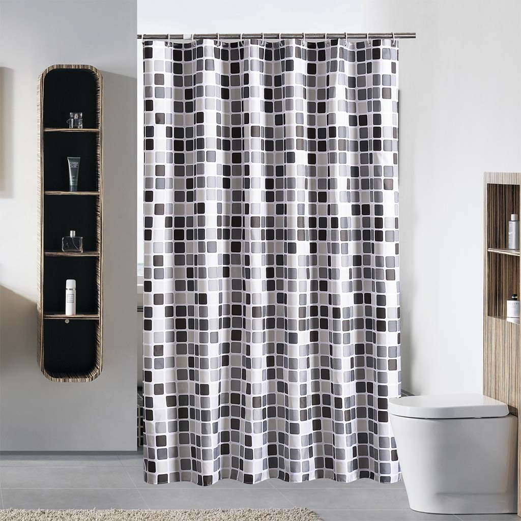 Us 11 6 51 Off New Waterproof Shower Curtain With 12 Hooks Mosaic Printed Luxury Bath Curtain Polyester For Bathroom Cortina Ducha Rideau D Y50 In