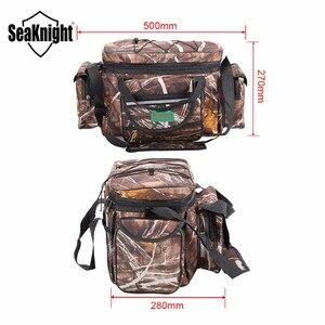 Image 2 - SeaKnight SK003 Fishing Bag Reel lure Bag Multifunction Fishing Backpack 50cm*27cm Reel Case Camouflage Khaki Fishing Tackle Bag
