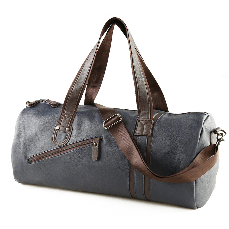High Quality Men Leather Travel font b Bags b font Carry on font b Luggage b