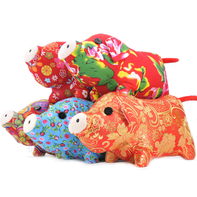20cm Mini Cloth Pig Plush Toy Stuffed Animals Super Soft Zodiac Pig Simulation Piggy Cute Piglet Dolls China 2019 New Year Gifts kawaii pvc flocked dolls furry animals cars and desk decorate cute dolls exquisite collection flocking toys gifts for new year