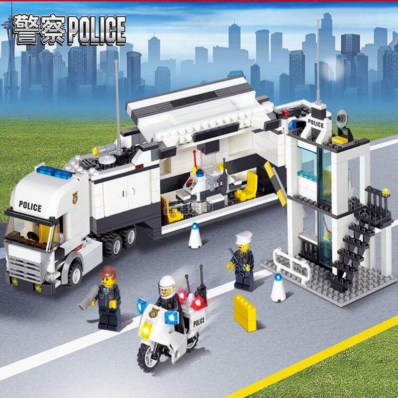 Building Blocks Police Station Model Building Blocks 511Pcs Playmobil Blocks DIY Bricks Educational Toys For Children With Gift cs 7553xu toner laserjet printer laser cartridge for hp q7553x q5949x q7553 q5949 q 7553x 7553 5949x 5949 53x 49x bk 7k pages