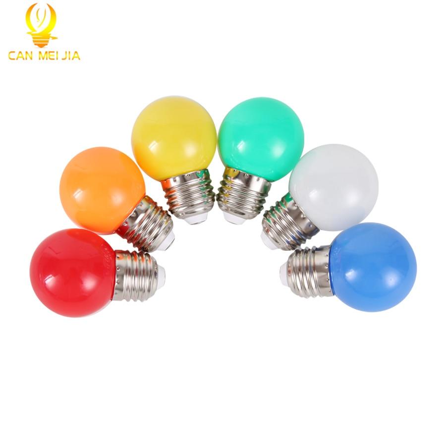 Colorful E27 Led Bulb 3W Energy Saving Bulb Light White Red Blue Green Yellow Orange Pink Bombilla Led Lampada For Home Lighting